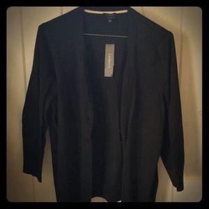 Black button cardigan, Talbots, NWT